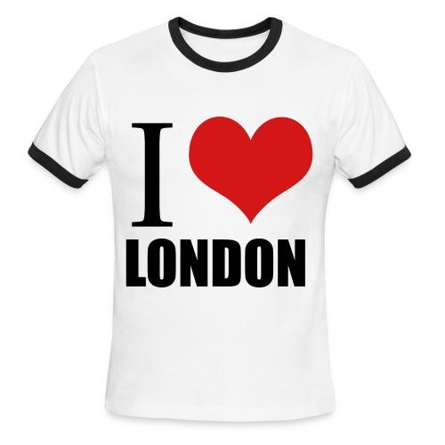 I love London - Men's Ringer T-Shirt
