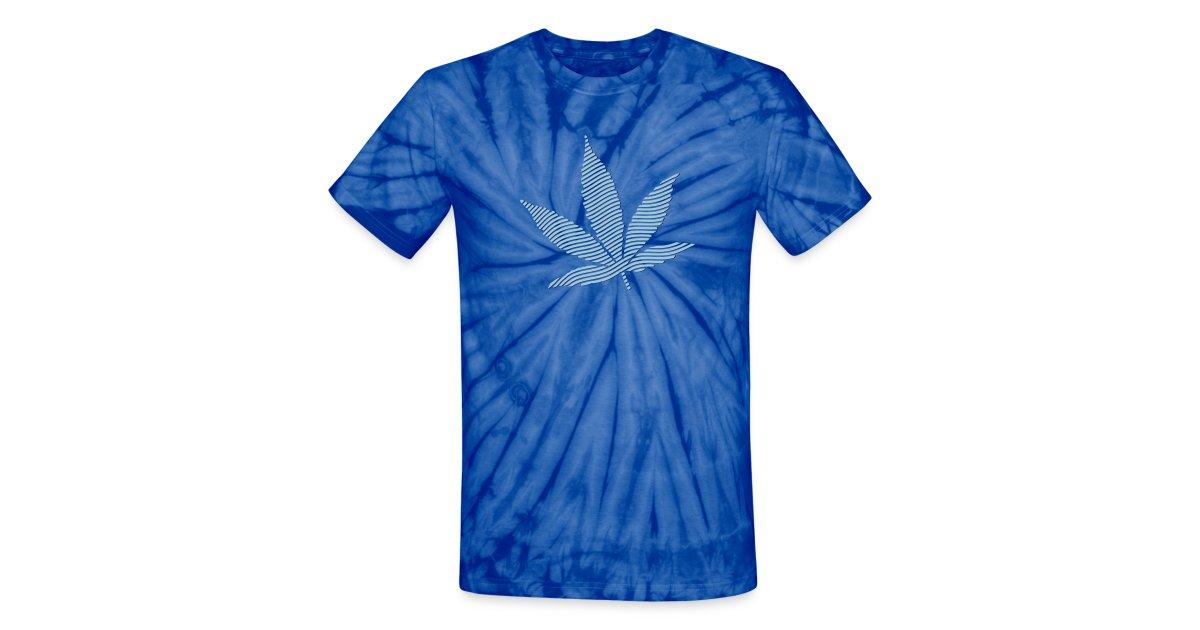 1b3818ea5a seedfinders shirtshop   Striped Leaf (NavyBlue) Tie Dye T-Shirt ...