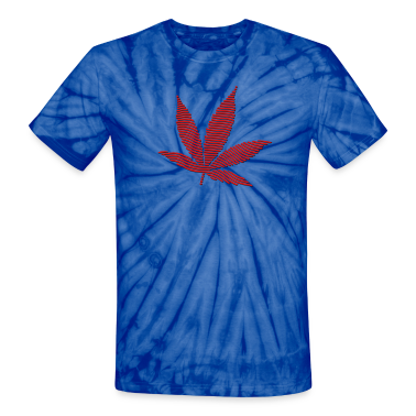 Spider red Cannabis Leaf (stripes, 2colors) T-Shirts