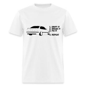 Drift Break Fix Repeat BMW White - Men's T-Shirt