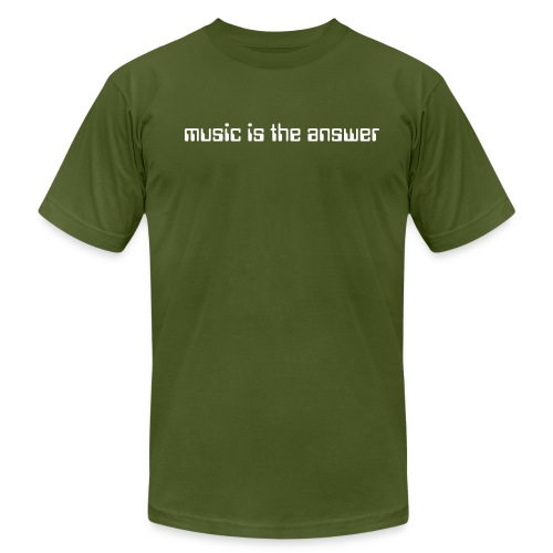 Music is the answer - Mens - Men's Fine Jersey T-Shirt