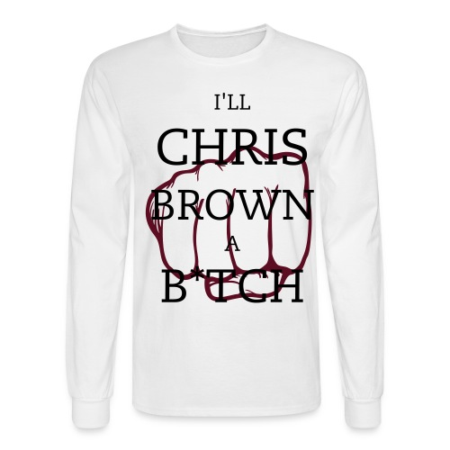 chris brown satire - Men's Long Sleeve T-Shirt
