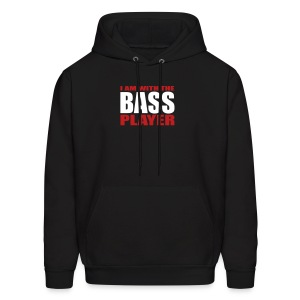 I am with the bass player - Men's Hoodie