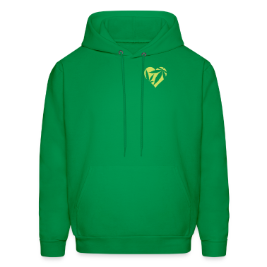 Green Marijuana Heart / Cannabis Love Hoodies