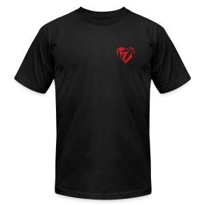 Hemp Heart (red flock) Mens AA Tee - Men's Fine Jersey T-Shirt