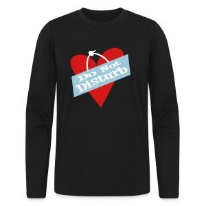 WUBT 'Heart, Do Not Disturb' Men's AA LS Tee, Black - Men's Long Sleeve T-Shirt by Next Level