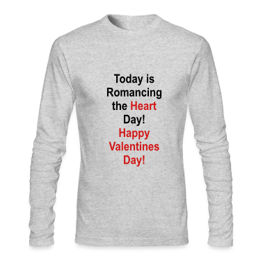 Heather grey romancing_the_heart_day Long Sleeve Shirts