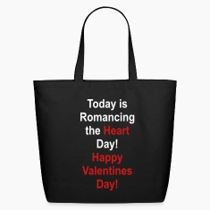 Black romancing_the_heart_day Bags