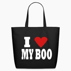 Black I Heart My Boo Bags