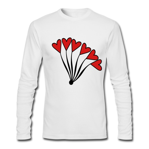 WUBT 'Heart Balloon Bouquet' Men's LS AA Tee, White - Men's Long Sleeve T-Shirt by Next Level