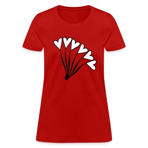 WUBT 'Heart Balloon Bouquet' Women's Standard Tee, Red - Women's T-Shirt