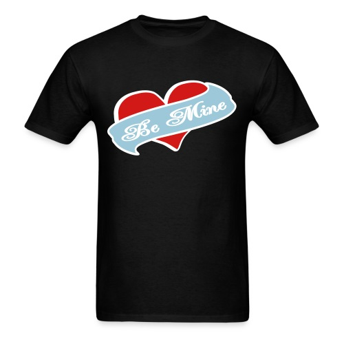 WUBT 'Be Mine Tattoo Heart' Men's Standard Tee, Black - Men's T-Shirt