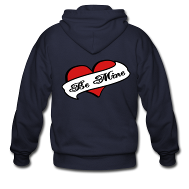 Ash  Be Mine Heart Banner Tattoo Zip Hoodies/Jackets
