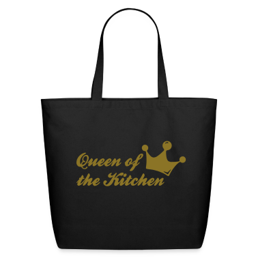 Black queen of the kitchen Bags