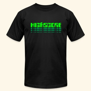 Highscore2 (neon) - Men's T-Shirt by American Apparel