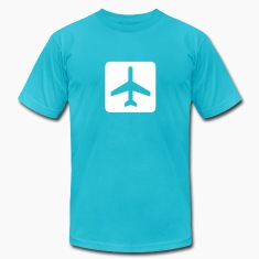 Turquoise Fixed-wing aircraft - airplane - airport T-Shirts