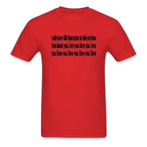 WUBT '140 Characters, How I Feel--DIGITAL DIRECT' Men's Standard Tee, Red - Men's T-Shirt