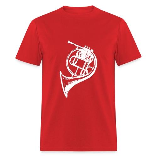 White French Horn - Men's T-Shirt