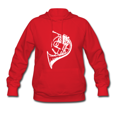Red White French Horn Hoodies