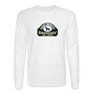 Dog House Brewery Mens Long Sleeve White - Men's Long Sleeve T-Shirt