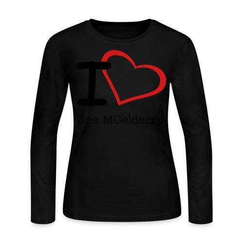 I Love Joe Womens Tee - Women's Long Sleeve Jersey T-Shirt