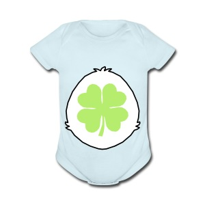 Lucky Bear Tummy - Short Sleeve Baby Bodysuit