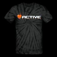 T-Shirts ~ Unisex Tie Dye T-Shirt ~ Active Tie Dye Black