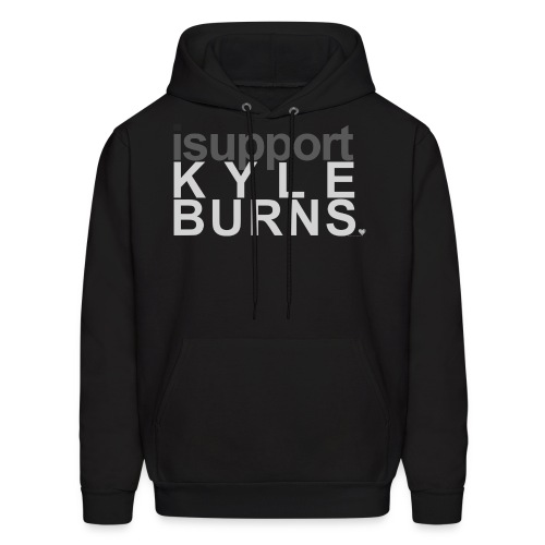 I Support Kyle Burns w/ Small Heart Detail Hoodie - Men's Hoodie