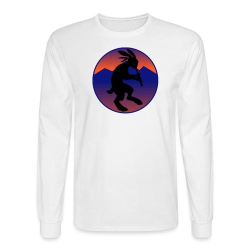 Men's Long Sleeve T-Shirt - Kokopelli (Native American flautist) jack-rabbit
