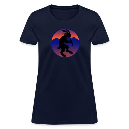 Women's T-Shirt - Kokopelli (Native American flautist) jack-rabbit
