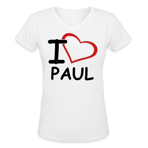 I Heart Paul T-Shirt - Women's V-Neck T-Shirt