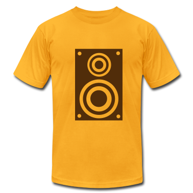 Gold Speaker - music T-Shirts