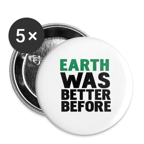 Earth Button - Large Buttons