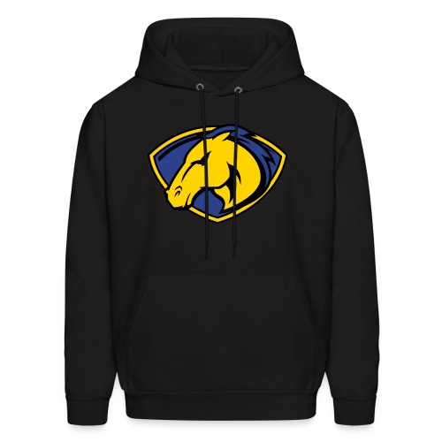 Mustangs Black Hoodie with Logo - Men's Hoodie