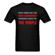 T-Shirts ~ Men's T-Shirt ~ Vendetta T-Shirt-PEOPLE SHOULD NOT FEAR THEIR GOVERNMENT