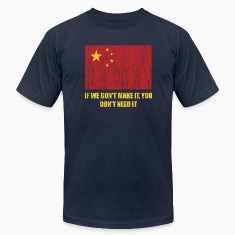 Navy Vintage China flag T-Shirts