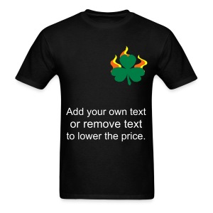 Burning Shamrock. - Men's T-Shirt