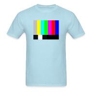 T-Shirts ~ Men's T-Shirt ~ TV COLOR BARS T-Shirt - Sheldon T-Shirt