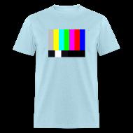 T-Shirts ~ Men's T-Shirt ~ TV COLOR BARS T-Shirt - Sheldon T-Shirt