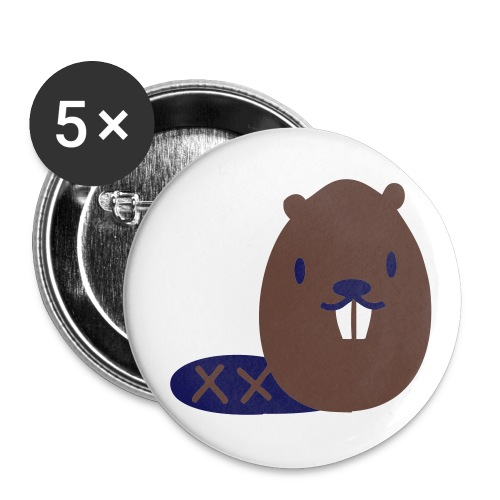 beaver? button? beaver button? - Buttons large 2.2'' (5-pack)