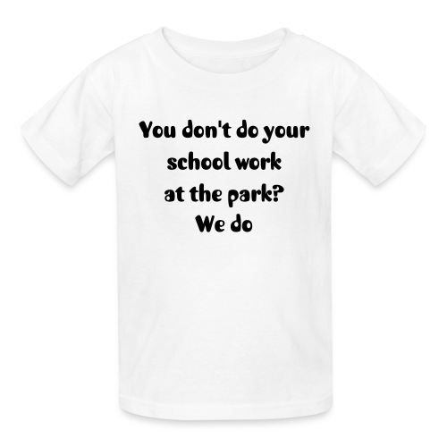 School at park - Kids' T-Shirt