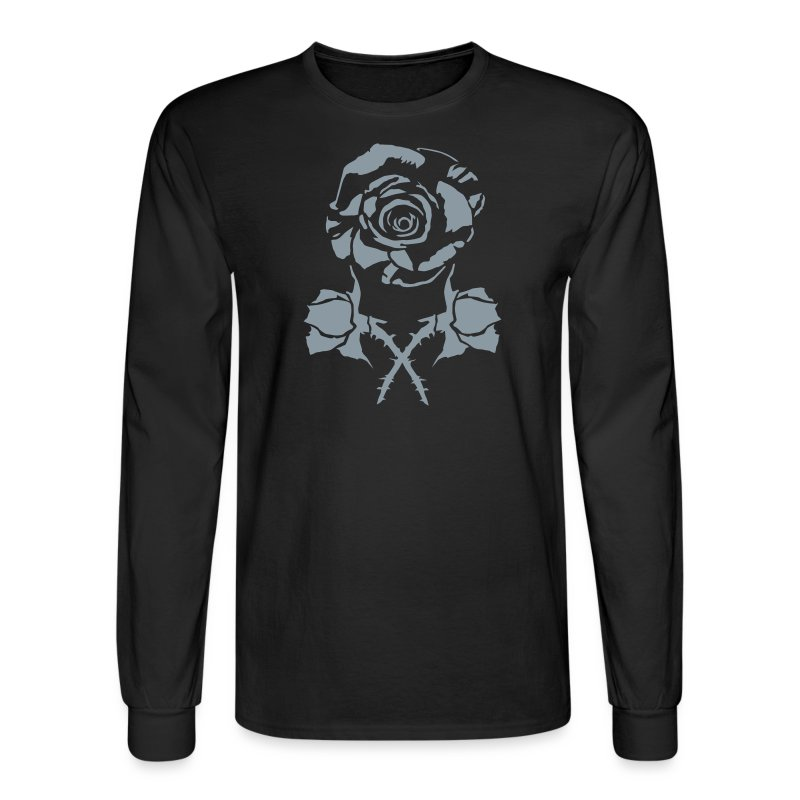 new rose and crossbud - Men's Long Sleeve T-Shirt