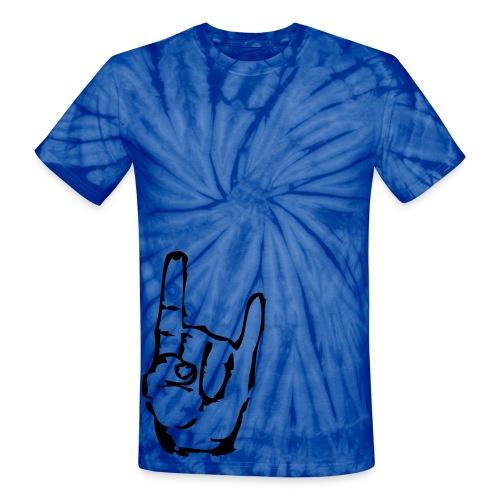 rock on - Unisex Tie Dye T-Shirt