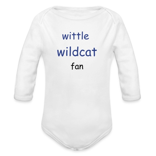 wittle baby wildcat fan   - Organic Long Sleeve Baby Bodysuit