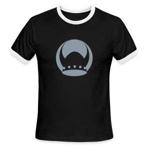 Valhalla Black/Silver Ringer T-Shirt - Men's Ringer T-Shirt