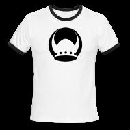 T-Shirts ~ Men's Ringer T-Shirt ~ White/Black Valhalla Ringer