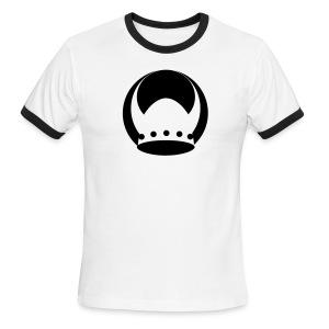 White/Black Valhalla Ringer - Men's Ringer T-Shirt