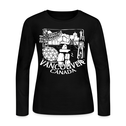 Vancouver Shirt Women's Vancouver Canada Shirt - Women's Long Sleeve Jersey T-Shirt