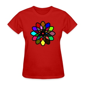 WUBT 'Kaleiscope Starburst, Multi-Color, Women's Standard Tee, Red - Women's T-Shirt