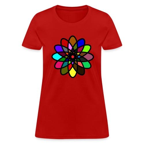 WUBT 'Kaleiscope Starburst, Multi-Color, Women's Standard Tee, Red - Women's T-Shirt